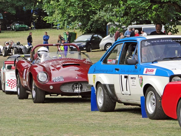 cars line up for race at crystal palace