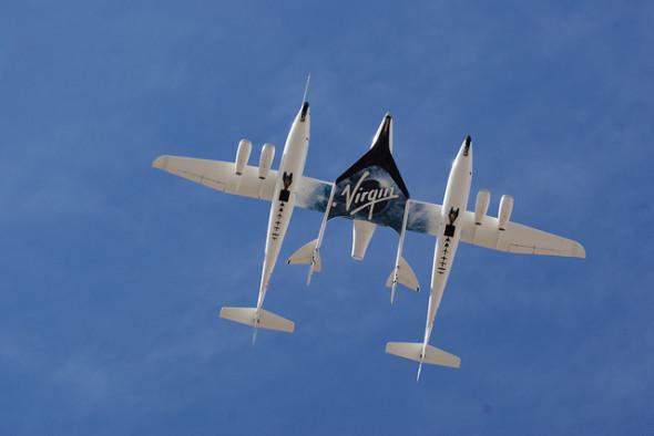 Virgin Galactic space tourist flights spaceship