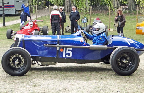 classic car race at crystal palace