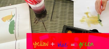 Yellow plus blue equals green
