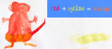 Red plus yellow equals green