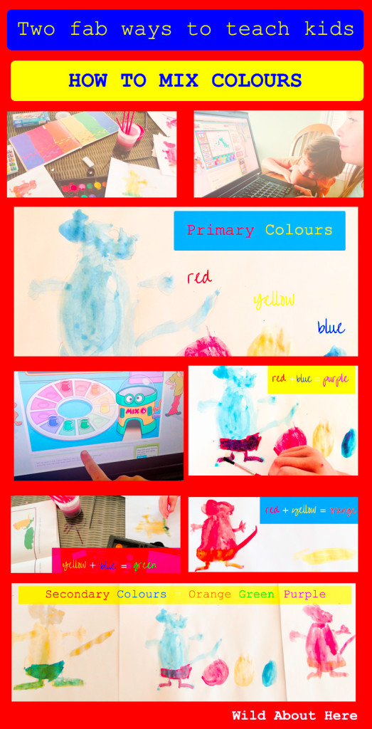 Teach kids how to mix colours two fab ways