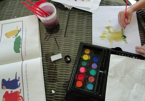 Painting and mixing colors on mouse