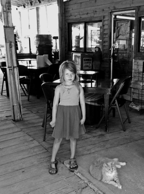 Child cat Tybee Georgia