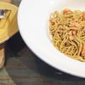 Salmon Pesto Spaghetti