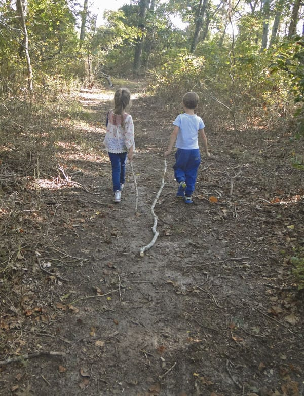 Dragging sticks