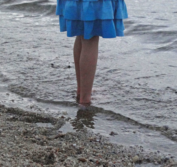 Barefeet in water