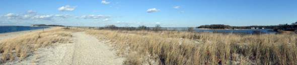 Beach and wetlands Morton National Wildlife Refuge
