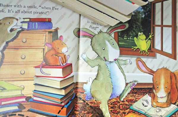 bunny teaches his friends to love reading