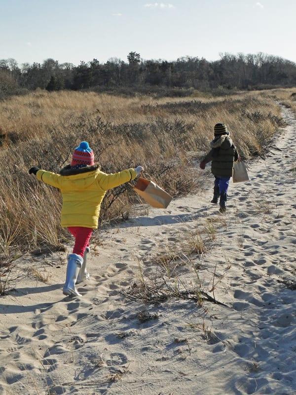 running dune path Morton National Wildlife Refuge