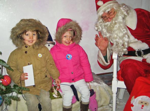 Christmas London kids Santa