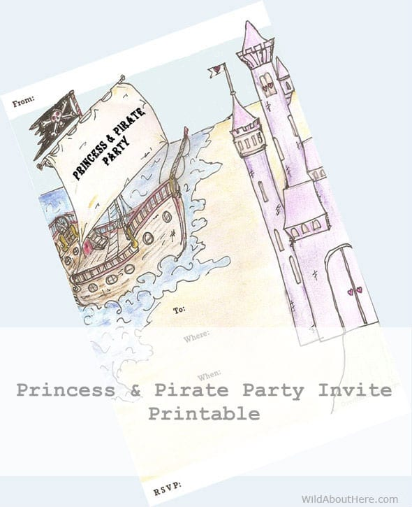 photo about Printable Princess Invitations known as Cost-free Printable Princess and Pirate Occasion Invitation - Wild