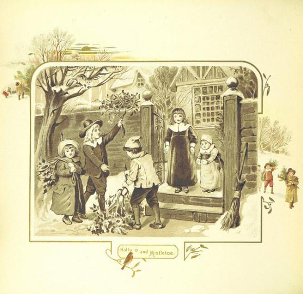 Holly Mistletoe British Library Flickr CC image