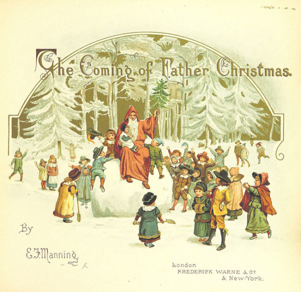 British Library Public Domain Father Christmas