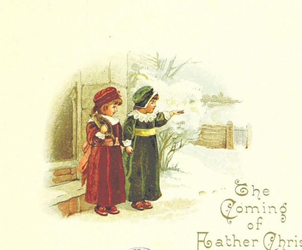 British Library copyright free Christmas image