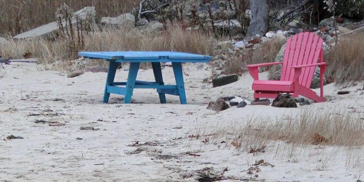 chair table beach