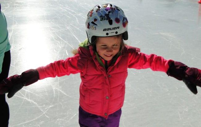 smiling skating