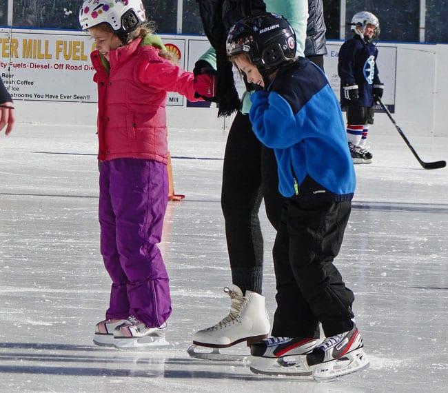 skating lesson buckskill winter club east hampton