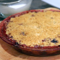 baked apple and blueberry crumble