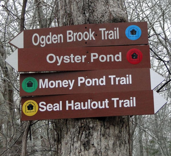 trail signs Montauk Point State Park