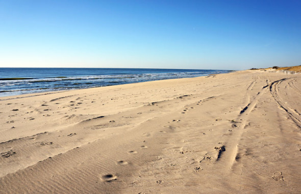 east hampton beach winter