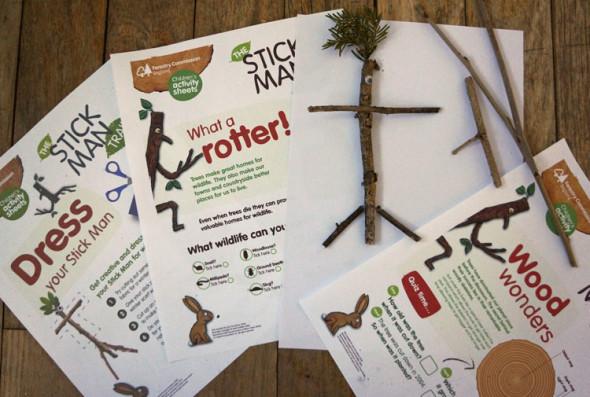 Stick Man trails and children's outdoor activities