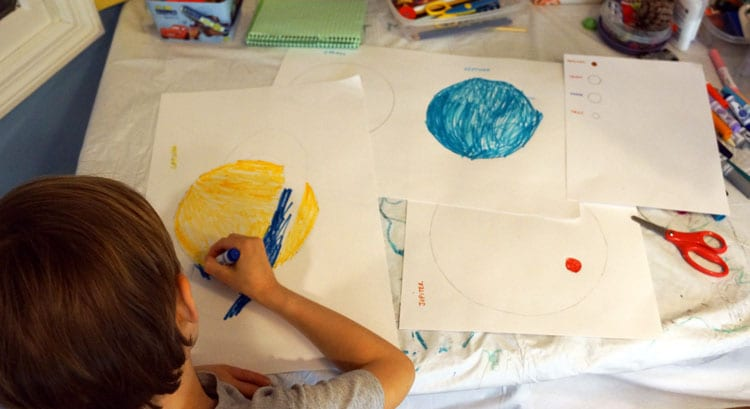 Drawing-and-cutting-planets
