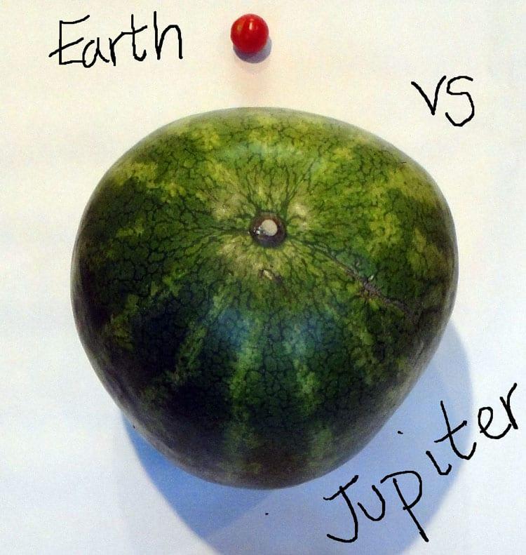 earth size compared jupiter