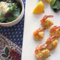 salad lemon butterflied shrimp prawns