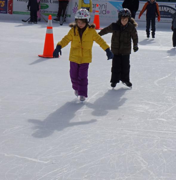 skating lesson ice rink