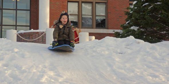 sledding top snow ice hill