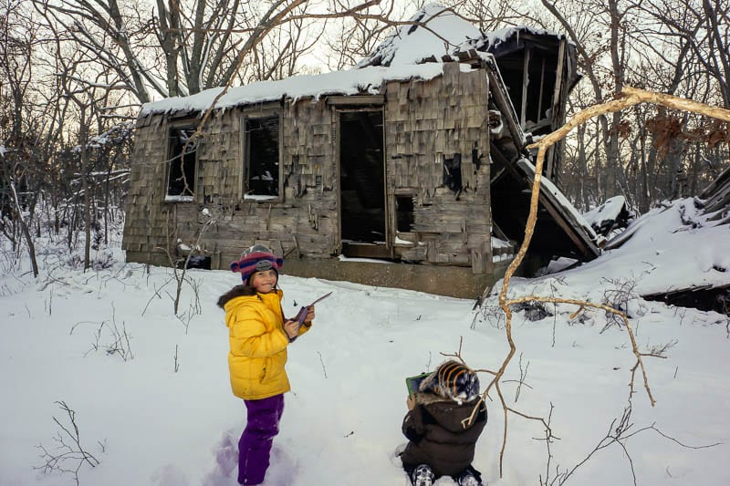 Capturing Outdoors Kids and ruins