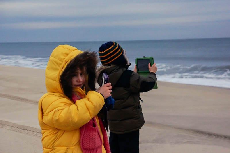 Southampton beach kids android cameras