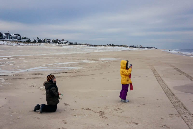 Southampton beach kids capturing outdoors