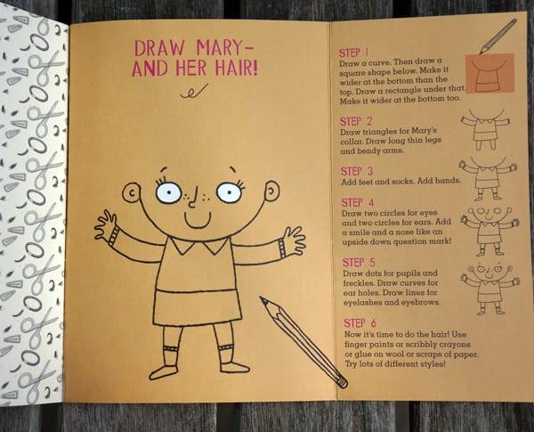 childrens book activity marys hair
