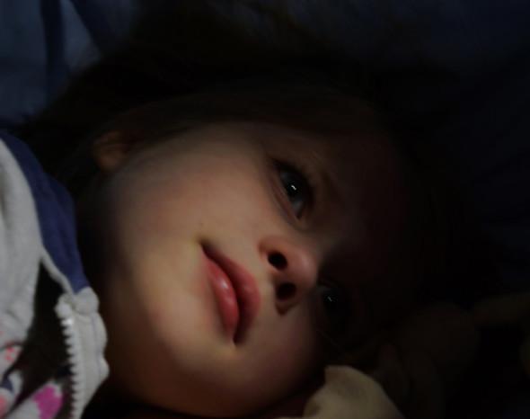 Luce almost asleep