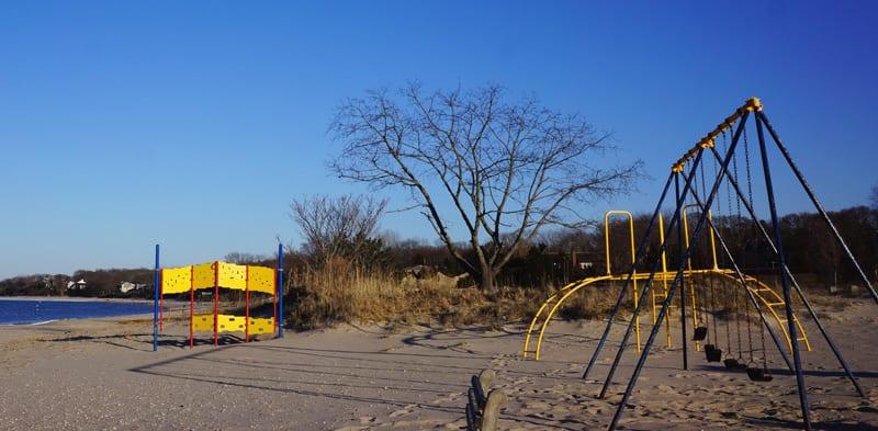 Havens Beach playground Sag Harbour