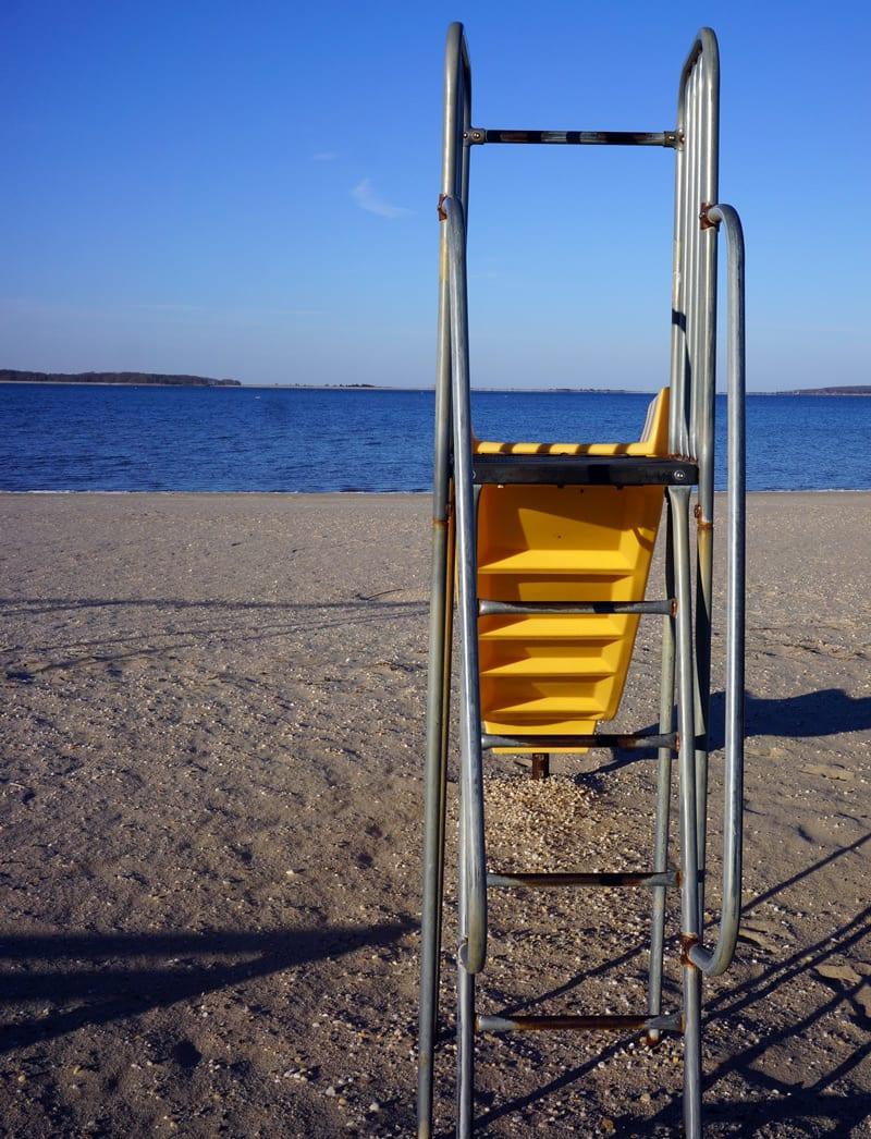 Havens Beach playground slide