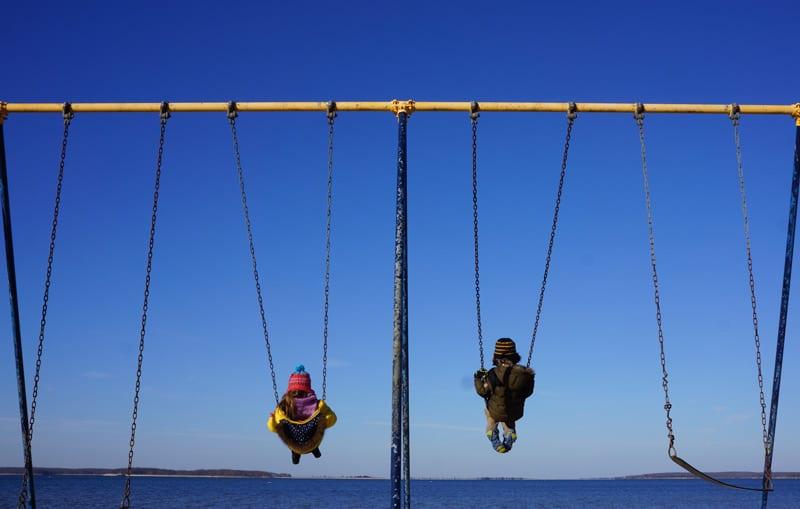 theo luce beach playground swings