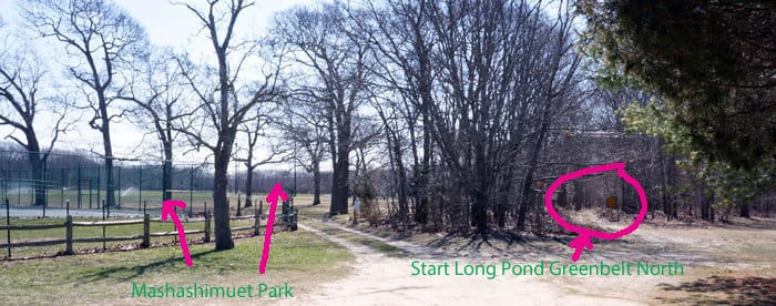 start long pond greenbelt north
