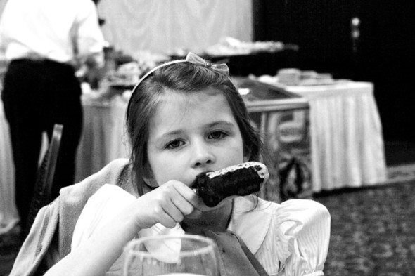 Ice cream at Easter Day lunch in Savannah