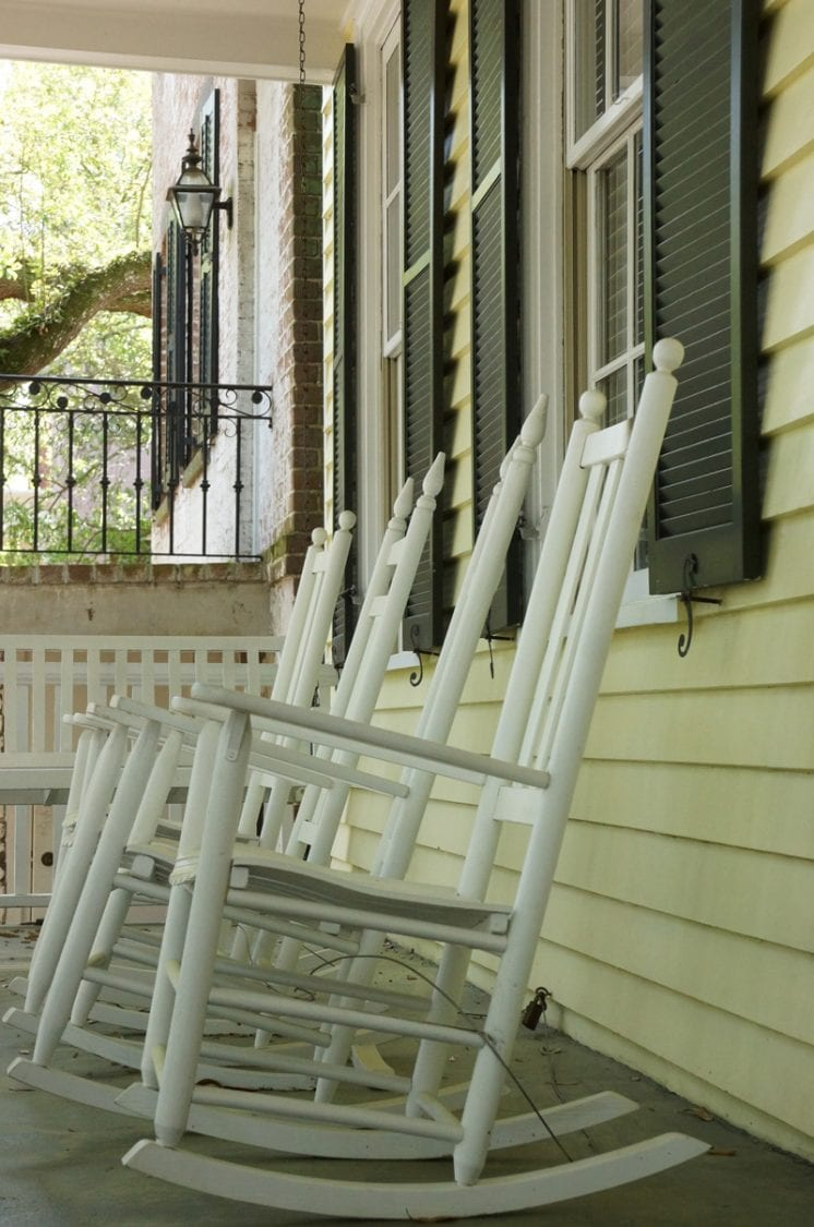 rocking chairs front porch