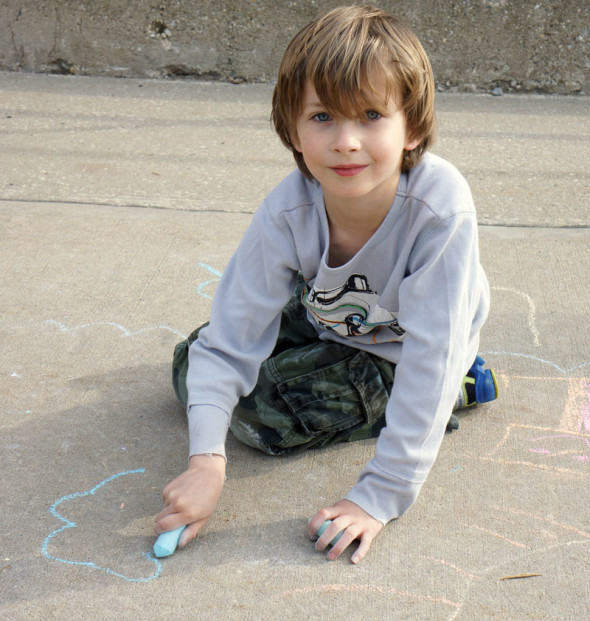 theo drawing ground chalk