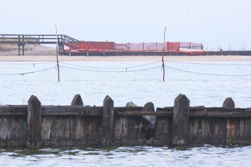 Broadview dock and fishing nets
