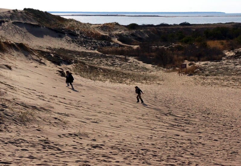 playing n The Walking Dunes Montauk