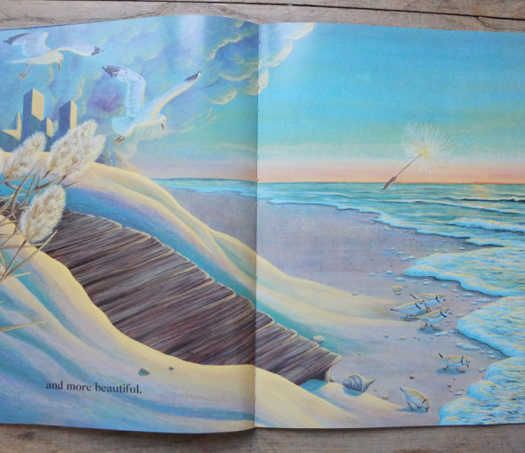 Double page illustration from The Dandelion Seed