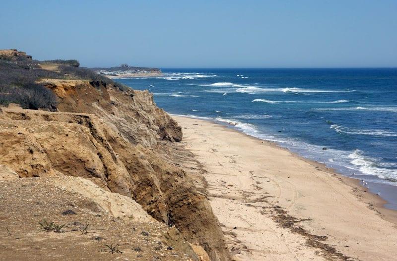 beach and ocean bluff Montauk