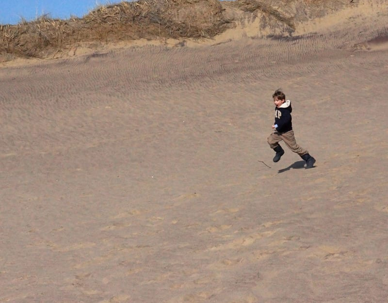 Running down U of The Walking Dune