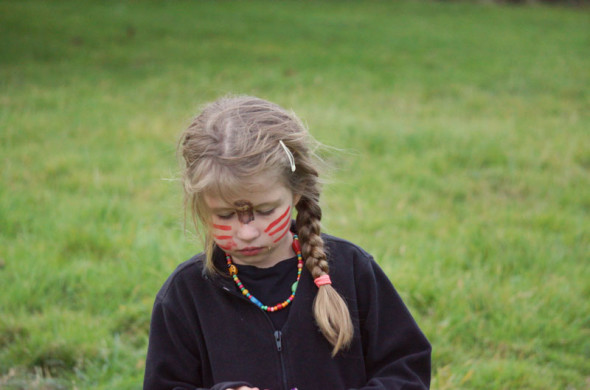 luce with face paint