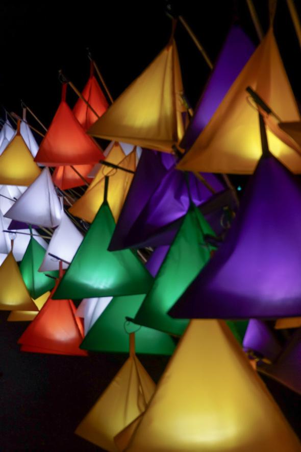 multi colour lanterns Wakehurst